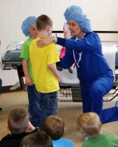 Local Kindergarten students 'Play Hospital' hosted by Mercer Health