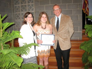 Shannon Osterfeld, a senior at Coldwater High School. Shannon is pictured with her parents Gary and Jeanne Osterfeld.