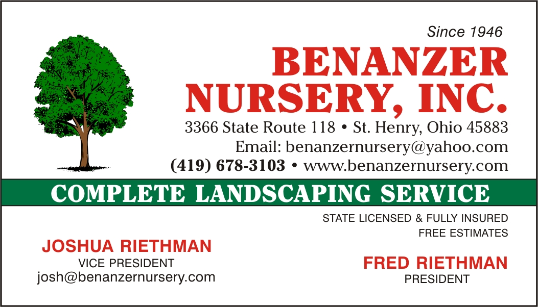 BENANZER NURSERY, INC.